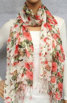 free shipping - promotion orange leopard printed viscose scarf, shawl