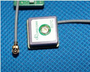 2pcs lot GPS built in ceramics active antenna 12*12mm Gain 27DB +free shipping(China (Mainland))