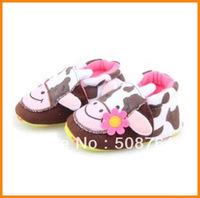 Hot-selling Baby toddler shoes cow design first walker cotton shoes free shipping
