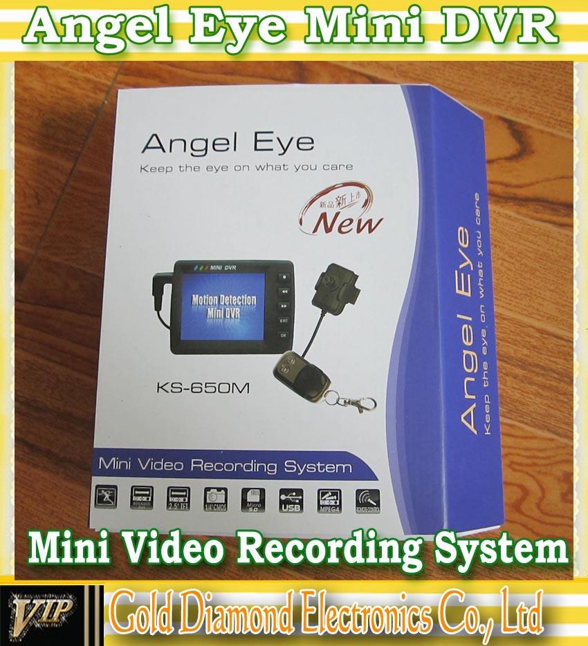 "Angel Eye 2.5"" Mini Video Recording System Spy Button DVR Video Recorder mini DVR free shiping(China (Mainland))"
