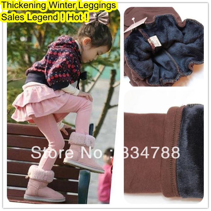 lot 2013 Kids Winter Leggings Toddler Girls Pants Cotton Cashmere Baby