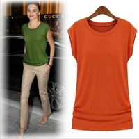 Free shipping 2013 Women's new fashion Short sleeve Modal Plus size  top Blouse T- shirt For women