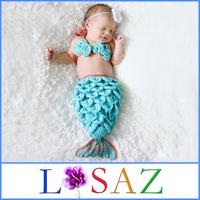 Autumn Spring Newborn Mermaid Birthday Hats Baby Photography Props Beanies