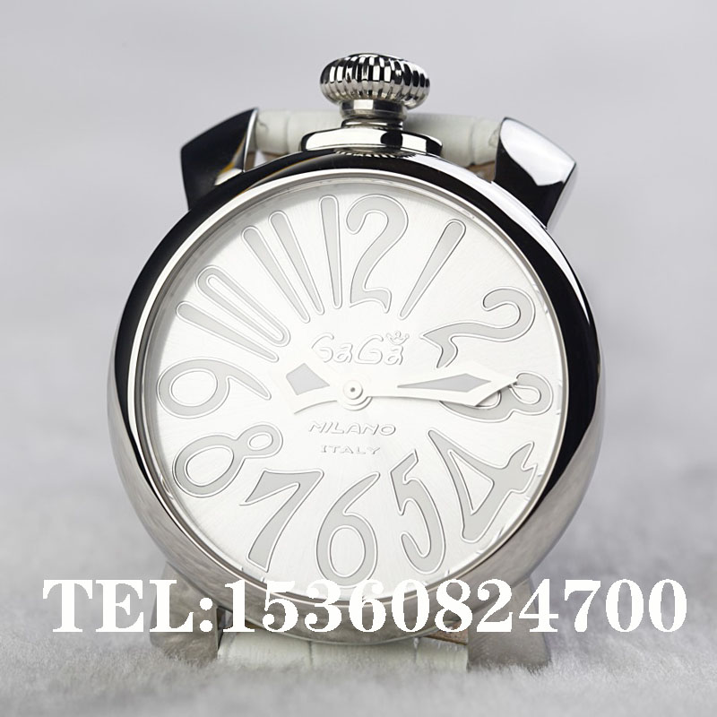Gaga white quartz watch 2013 new fashion elegant women's cowhide watchband watch 339g 1 free shipping(China (Mainland))