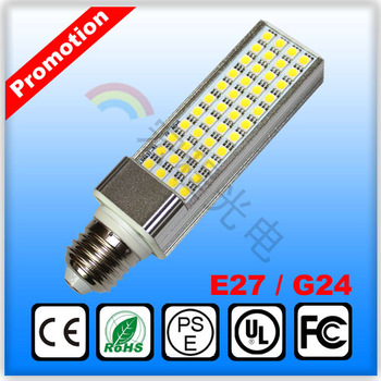 Hot sale  5050SMD  led light 60 leds high bright  PL Lamp  corn bulb for home lamp g24 e27 lamp base
