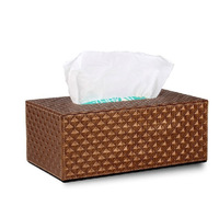 Nobility Diamond Leather Tissue Box Fashion Pumping Paper Box