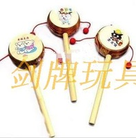 Cartoon toys drum wooden drum infant baby toy child musical instrument educational toys