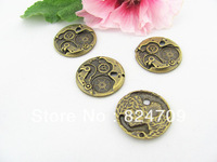 Free Shipping Vintage Antique Bronze Charms Pendant Alloy Steampunk pandent Connector Findings Fashion DIY Jewelry Finding