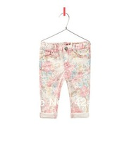 2013 New Fashion Girl Printing Jeans Women Skinny Pencil Pants Floral Jean Long Trousers Slim Leggings