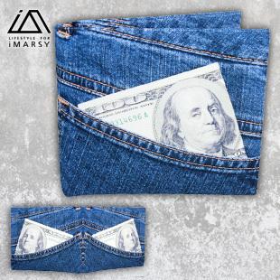 Imarsy jeans waterproof tear rotten paper wallet dupont