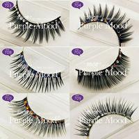 7 Style Select Handle Made Long Thick Glitter & Shimmer False Eyelashes Lashes Diamond Fake Eye Lashes + Glue Gift Free Shipping