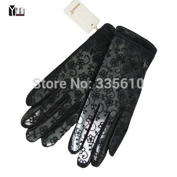 Кружево Ms Модный Натуральная кожа Gloves woman Натуральная кожа gloves female elegant ...