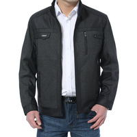 Wolsey autumn and winter jacket male outerwear plus size male jacket casual stand collar