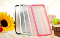 Drop SHipping! 2 in 1 Hybrid Case, PC+TPU Hard Mesh Clear Hard Back Cover Case For Iphone 5 Case