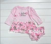 European and American brands baby girl long sleeve dress (dress + underwear)