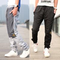 New 2013 Fashion autumn -summer Mens Harem Pants Men Sport Suit Trousers Pants Casual Slacks Black Grey