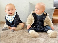 Free Shipping!2013 Combi Autumn Winter hoodies for kids,thick cashmere kids coat , reversible coat for child 1-4Y