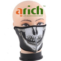 Free shipping Bike Motorcycle Skiing Snowboard Neck Winter Warm Skull half Face sport Mask