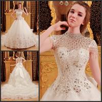 2013 bandage tube top wedding dress princess big train wedding dress xj877541