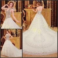 2013 sparkling sexy bandage tube top train wedding dress bride xj553211