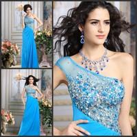 Luxury crystal formal dress formal dress toast the bride married formal dress evening dress xj54987
