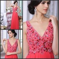 Ultimate luxury crystal formal dress formal dress toast the bride married formal dress evening dress xj81125
