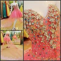 Ultimate luxury crystal formal dress formal dress toast the bride married formal dress evening dress xj760432
