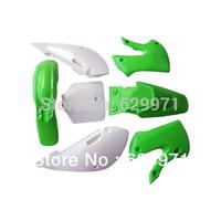 KAWASAKI KLX110(02-09) DRZ 110 KX65(02-12) Plastic Body Kits Green e Pit bike plastic parts