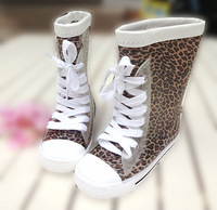 Child rain boots s709 leopard print children rainboots fashion female child rainboots male child water shoes