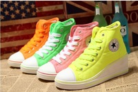 Spring Women Wedge Casual Sneakers Canvas Shoes (Size 36-40) 9174