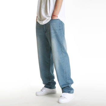 2013 light blue loose male skateboard pants jeans hiphop bboy hip-hop skateboard hiphop jeans