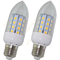 2 x E27 40 LEDs Warm White 400LM SMD 5050 Soptlight Spot Candle Light Bulb Lamp
