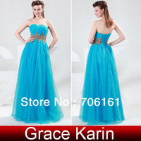 Платье на студенческий бал Grace Karin Fulllength One Shoulder See Through Back A-line Prom Gown Evening Banquet Party Dress Navy Blue CL4506