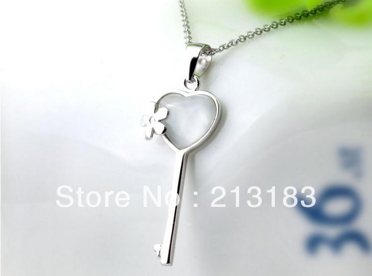 Lose Money Free shipping!925 silver Cat's Eye Stone Heart Key chains 925 silver jewelry,wholesale fashion jewelry, factory price(China (Mainland))