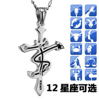 Male cross necklace accessories pendant fashion jewelry