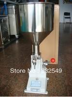 Manual paste piston filling machine liquid object filler equipment for viscous food,chemical,medicals&beverage bottle packing.