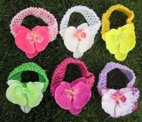 FREE SHIPPING/Hot Selling Fashion KidsChildren Girl Lovely Knitting Lace Flower Headbands Girls Princess Headwrap/Hair Accessory