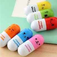 Korea stationery pills retractable pen ballpoint pen cartoon pen pill pen
