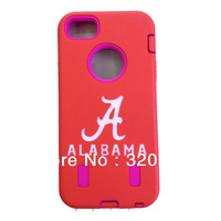 Type 2 Best Rugged Protection Case ALABAMA Colleges Football teams Customized Design w/built in screen for iPhone 5