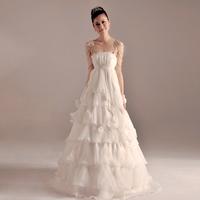 Maternity wedding dress high waist 2013 sweet plus size wedding dress