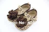 Free shipping High quality kid baby shoes newborn baby girl Leopard grain flower shoes baby first walkers shoes Wholesale retail