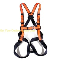X Word Shape Full Body Safety Tower Climber Harness For Working On Suspended Working Platform