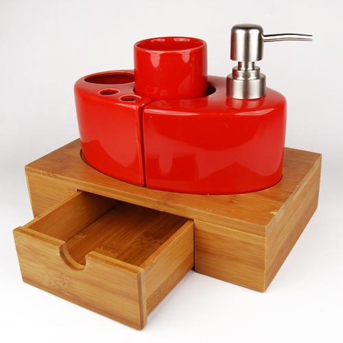Set De Baño Bambu Dupree: de cerámica set de baño decoración en Sets de Baño de Casa y