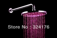 "Modern 12"" bath rain shower led unique color water shower spray"