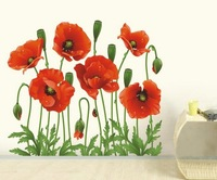Free Shipping Wholesale-- Morning Glory Wall Sticker 10Sets/Lot The Decoration Of Home Wall Stickers Decor 70x50CM