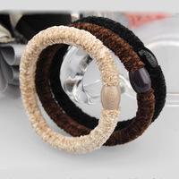 6CM internal diameter 0.6-0.7CM wide hair rope top velvet velure kknekki high quality rubber band energetically headband elastic