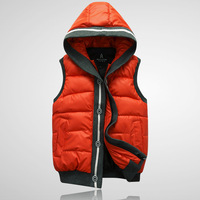 New arrival 2013 male sleeveless vest male autumn and winter fashion casual vest with a hood vest lovers cotton