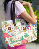 Free Shipping Animal big bear lion waterproof pvc big shoulder bag handbag women's