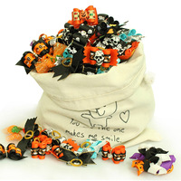 Halloween Handmade Pet Dog Grooming Accessories Hair Bows For Dogs, Mixed Style Packs.