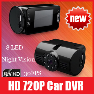 Carcam Digital Video Recorder Car Camera HD 720P Traffic Recorder DVR with Night Vision CY-363, Free Shipping
